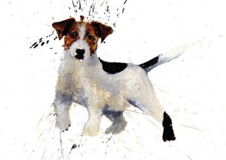 Clare Brownlow Blank Greeting Card 'Jack Russell'